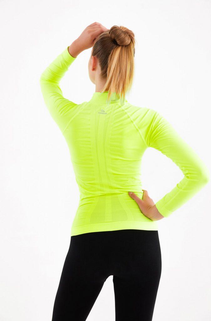 Fermuarlı Spor Ceket Neon Sarı